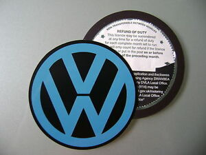 Magnetic-Tax-disc-holder-fits-any-volkswagen-vw-golf-polo-passat-touran-m-blue