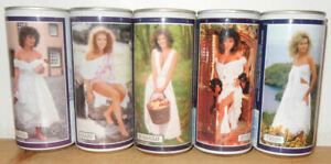 1987-1988 TENNENT'S GIRLS  5 cans set from SCOTLAND (44cl)
