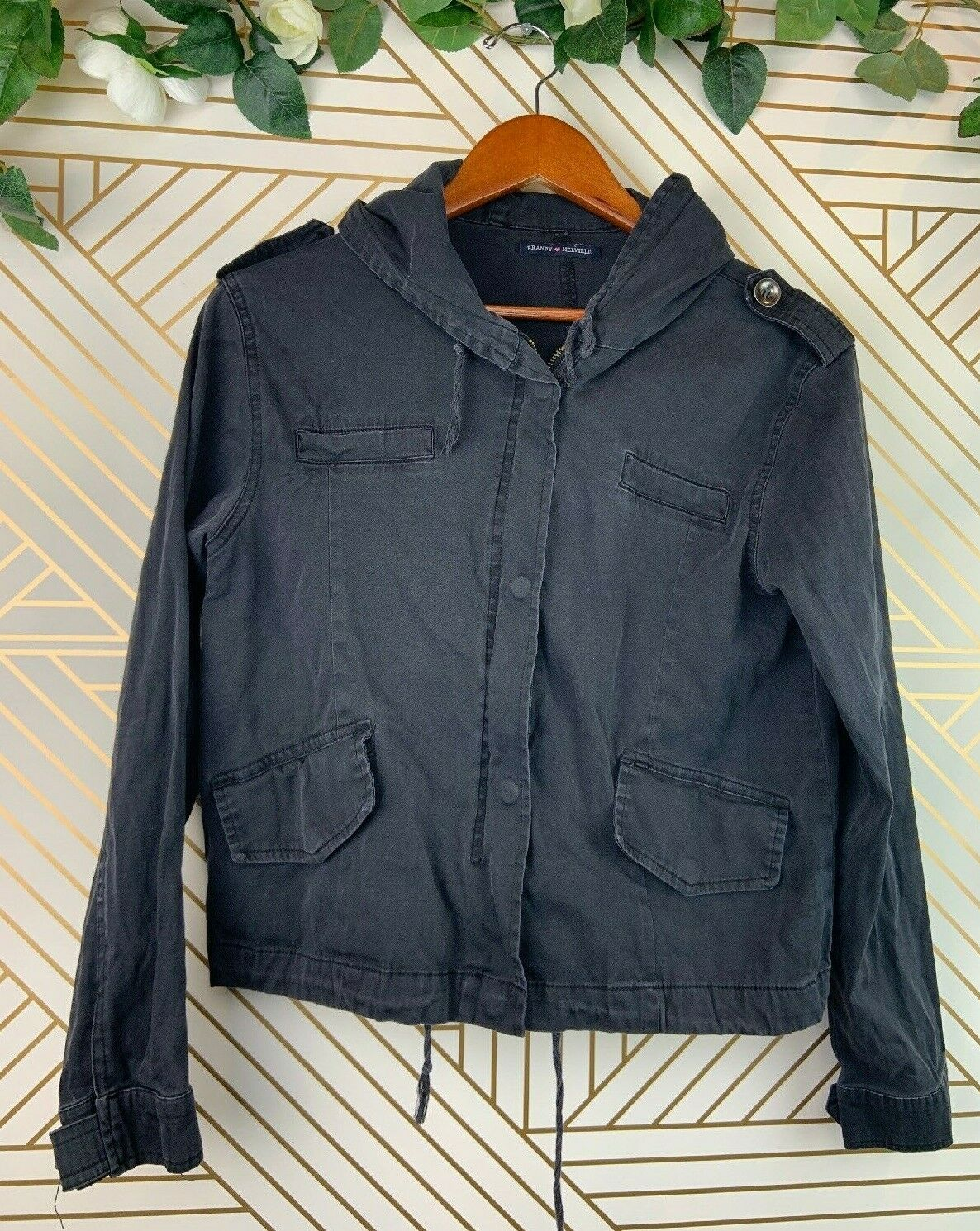 Brandy Melville Hailey Jacket Black Size XS-S Black