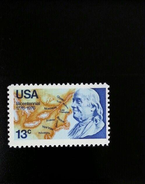 1976 13c Benjamin Franklin, Bicentennial Scott 1690 Min
