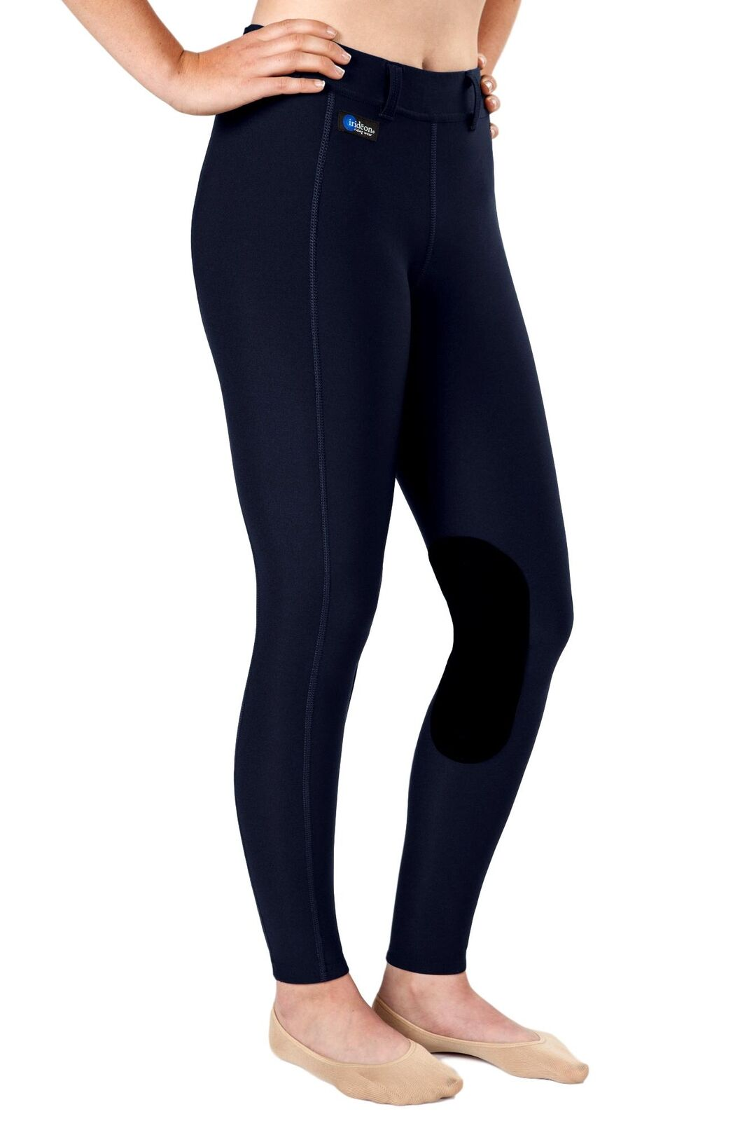 Irideon Issential Riding Tights with Flat No-Chafe Seams and Body Contouring