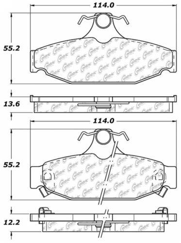 Disc Brake Pad Set-C-TEK Metallic Brake Pads Rear Centric 102.04130