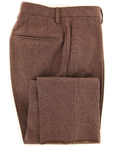 $475 Incotex Brown Melange Wool Blend Pants Slim DJ