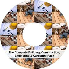 Building Construction Carpentry Plumbing Electrical Utilities PDF Manuals on CD