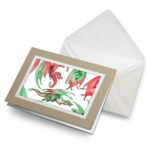 Greetings-Card-Biege-Green-Red-Dragons-Fantasy-Art-China-24409