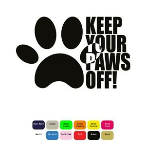 Keep-Your-Paws-Off-Iron-On-T-Shirt-Clothes-Heat-Vinyl-Transfer-Sticker-HTV-Decal