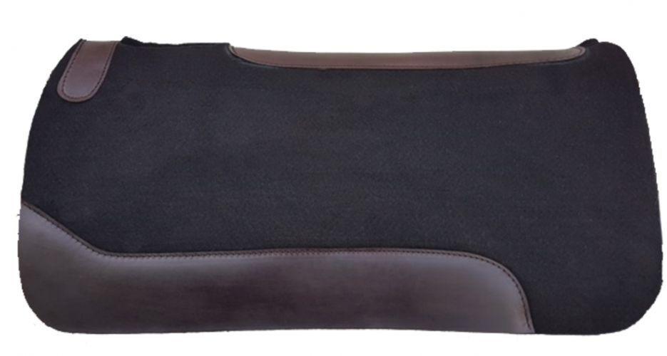 Showman ® 31 X 31 X 1 Cojín de negro fieltro negro de con fondo de neopreno 585461