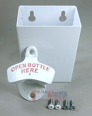 Metal Cap Catcher Set OPEN BOTTLE HERE Combo Starr X Wall Mount Bottle Opener