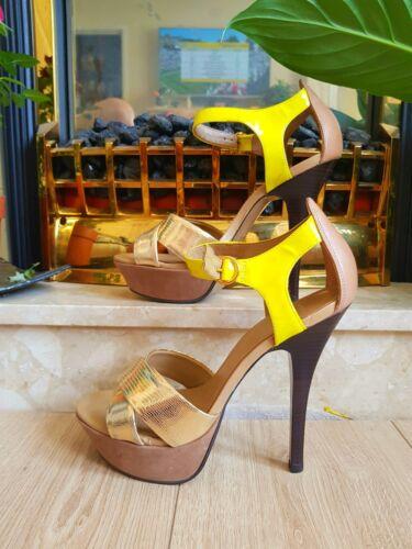 38 Neon oro giallo Carvela New Super High e Uk5 Shoes Size vwZq5UR
