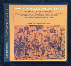 EWAN-MacCOLL-BROADSIDE-BALLADS-Vol-1-LONDON-CD-TRAD-BRIT-FOLK-VERY-GOOD