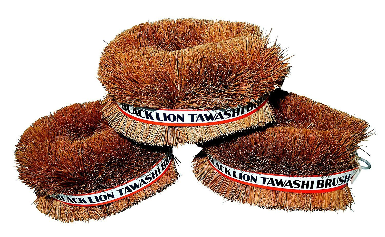Set of 3 Black Lion Tawashi Vegetable Cleaning Scrubbing Brush, Made in Japan