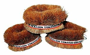 Set-of-3-Black-Lion-Tawashi-Vegetable-Cleaning-Scrubbing-Brush-Made-in-Japan