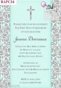 baptism christening communion confirmation invitations invites 12