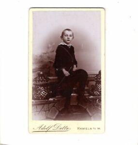 CDV-Foto-Niedlicher-kleiner-Junge-Hameln-1890er