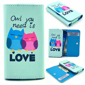 Owl-Love-YP31-Card-Wallet-Case-Cover-For-Call-Phone-Samsung-Blackberry-Nokia