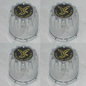 "4 CAP DEAL GEAR STYLE CHROME FITS 2.75/"" 2-3//4/"" BORE WHEEL RIM CHROME CENTER CAPS"