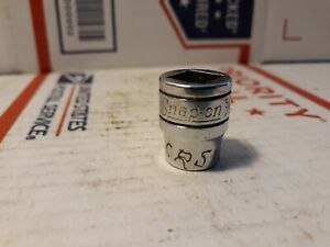 "Vtg Snap On Tools F310 5/16"" Chrome Socket 3/8"" Drive 8 Point Square Nut USA"