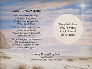 Details about Memory of Brother Sympathy Gift Personalized Poem Memorial  Gift Loss of Brother