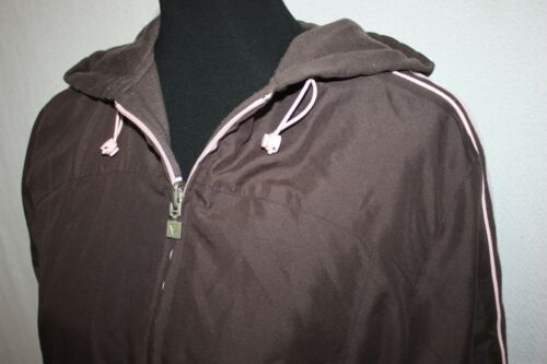 reversible Sudadera para Sz con capucha mujer capucha M Sudadera marrón color y con Everlast cremallera Everlast qxCISxwfH