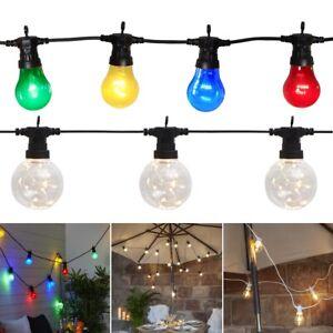 LED Party Lichterkette GLÜHBIRNEN | außen | 5 Typen | 230V