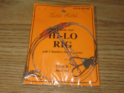 2PK 4 PORGY SCUP RIG TIDE RITE R1040 HI-LO RIG SALTWATER FISHING RIGS MUSTAD