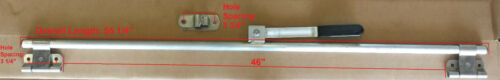 "RV//Cargo Trailer Aluminum Door Cam Lock 55 1//4/"" w// Stainless Steel Padlock Hasp"