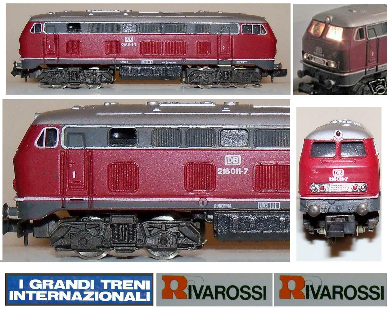 RIVAROSSI 2192 LOCOMOTIVE DIESEL REGIONAL VT216 011-7 DB with light and OVP