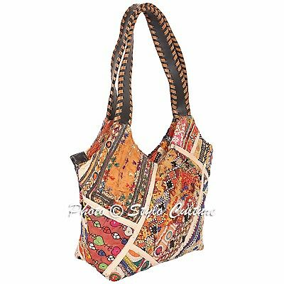 Geniune Indian Shoulder Hippy Boho Bags All Colours Embroidered With Elephants