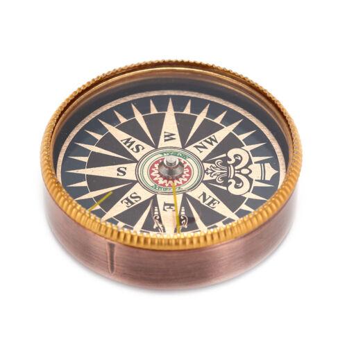1 Pc x Bouton de poche En Plein Air Randonnée Vintage Boussole En Métal Pour  LB