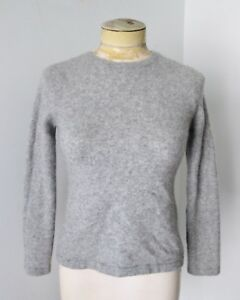 Gander-Mountain-heather-gray-100-cashmere-crew-neck-fitted-sweater-XS