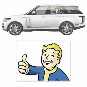 Fallout 4 Vault Boy Thumbs Up Driver's Side Car Decal