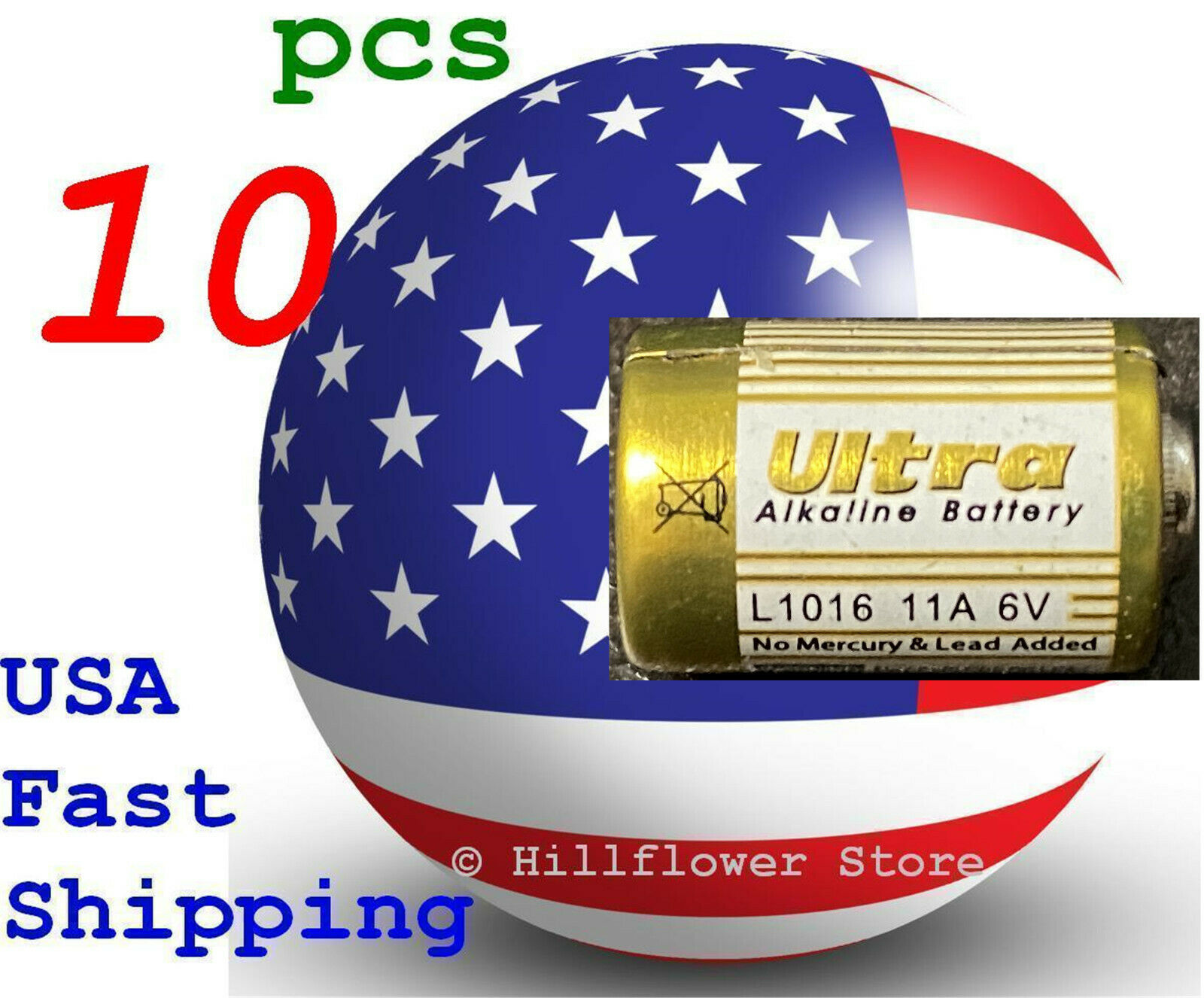 10 pcs 11A A11 MN11 L1016 GP11A 6V Bulk Super Remote Alkaline Battery