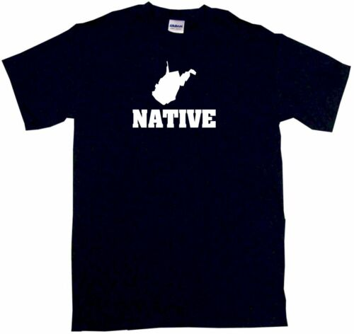 West Virginia Silhouette Native Mens Tee Shirt Pick Size Color Small-6XL