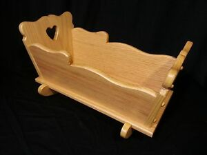 Image Is Loading Sm Doll Cradle Solid Oak Furniture House Amish