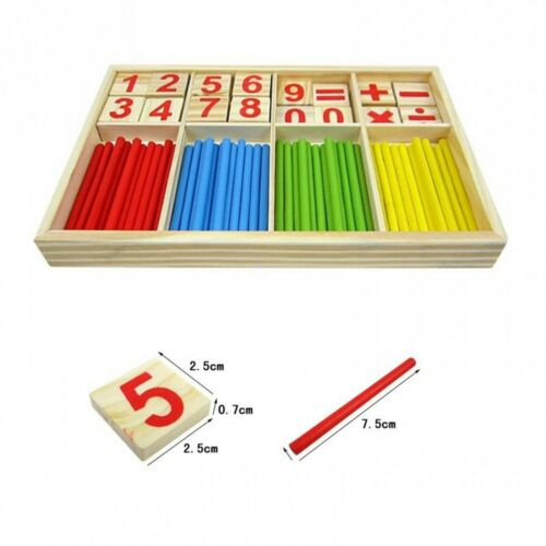 EVINIS Baby Toy Wooden Blocks Montessori Educational Toys Mathematical Intell...