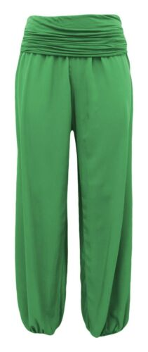 Boho-Style Estate Pantaloni-flatterhose-Ampio Gamba-Pantaloni Hippie Pantaloni slittamento 38-44