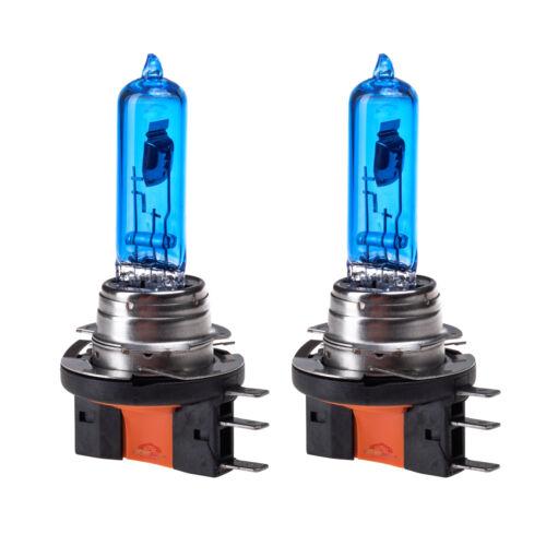 2x H15 Headlight DRL Upgrade Halogen Bulbs Super White Xenon Effect 5000K 15//55W