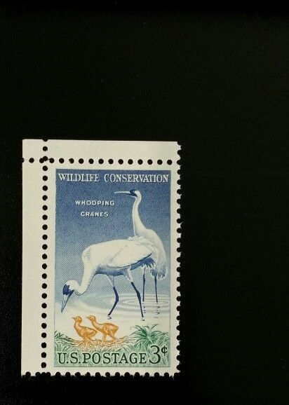 1957 3c Whooping Cranes, Wildlife Conservation Scott 10