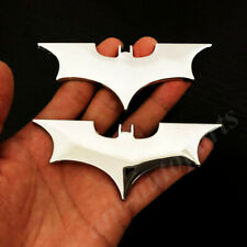 2pcs Metal Chrome Batman Dark Knight Mask Car Trunk Emblem Badge Decal Sticker
