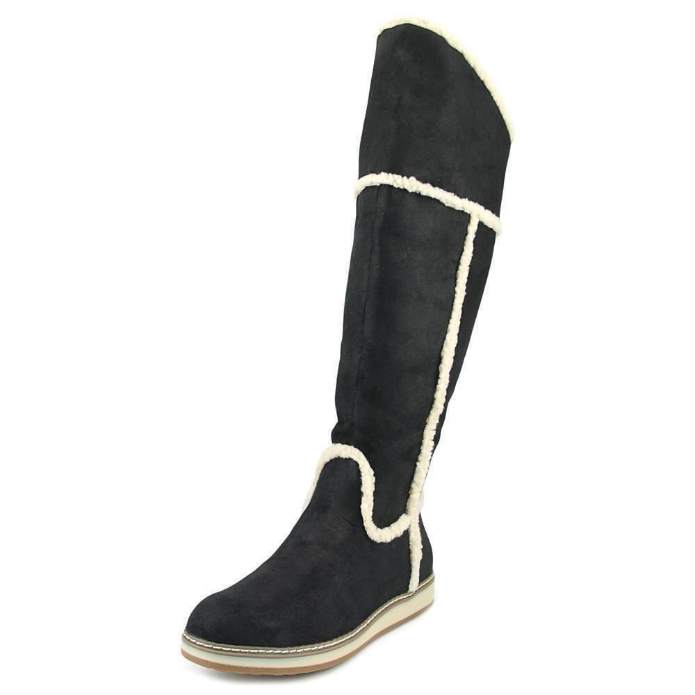Nine West Deep Snow Women US 6. 5 M Black   Tall Knee High Boot