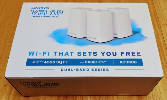 NEW Linksys VELOP Smart Mesh Dual Band Whole Home Wifi System AC3600 - 3 Pack
