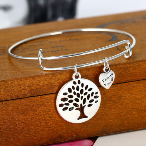 Silver Tree of Life Pendant Chain Necklace Charm Bracelet Women Earrings Gifts
