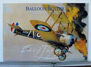 Balloon-Buster-208-Squadron-Sopwith-Camel-Robert-Taylor-Aviation-Art-Brochure