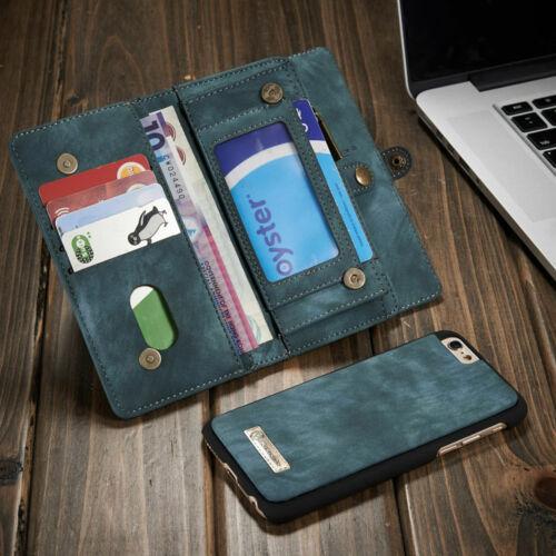 Móviles y telefonía Cartera De Cuero Magnético Abatible Tarjeta Extraíble Funda Para iPhone XS Max XR 8 7