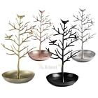 Jewelry Necklace Ring Earrings Tree Metal Rack Stand Display Organizer Holder