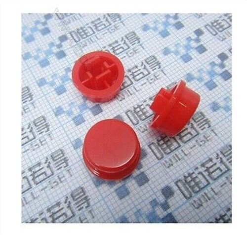 20Pcs Red Button For 12X12X7.3MM Micro Switch Pcb Tact Switch ui