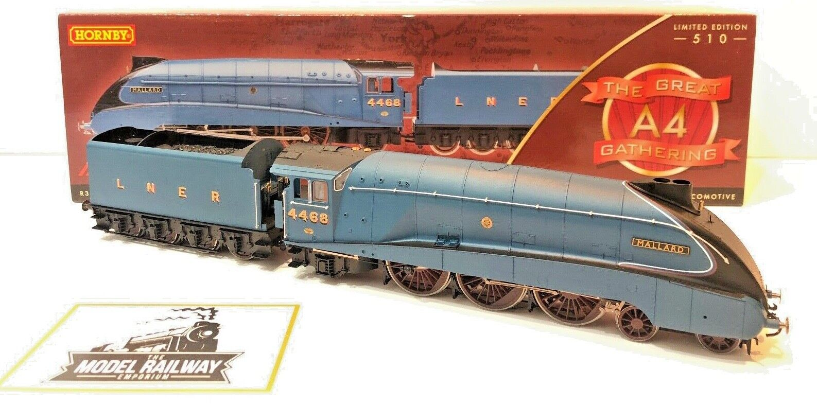 HORNBY 00 GAUGE - R3196  - LNER CLASS A4  MALLARD  GREAT GATHEbague LIMITED ED  magasin fashional à vendre