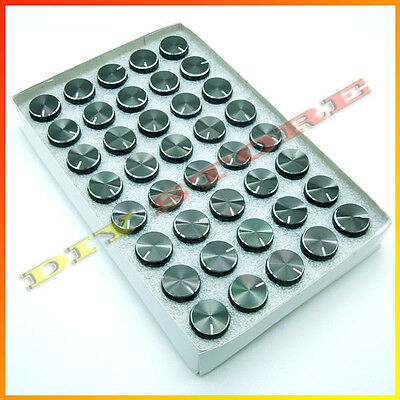 40Pcs black 15x17mm Aluminum alloy Potentiometer Control Volume Knobs Mini Cap