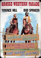 Festival Filmposter A1 Bud Spencer Terence Hill Große Western Parade Vier Fäuste