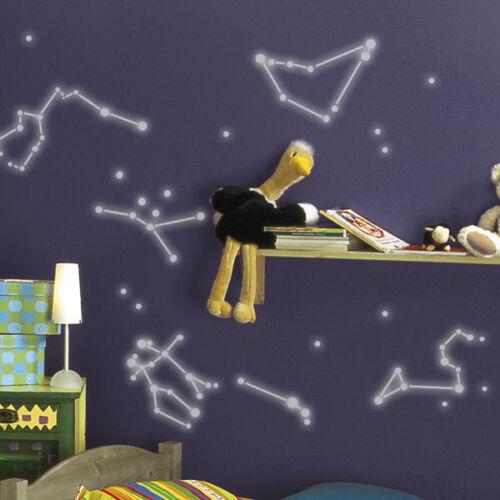 Stickers muraux Glow in the Dark-signe astrologique zodiac//sticker feux dans le noir